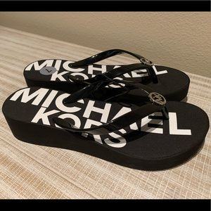 Michael Kors Wedge Flip Flops